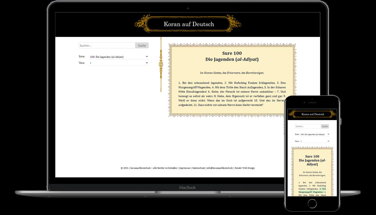 Mockup Koran auf Deutsch